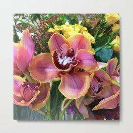 Boat Orchids_Cymbidium_Orchid Flower Metal Print