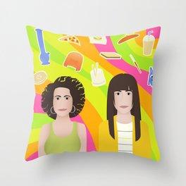 Broad Illustration Throw Pillow