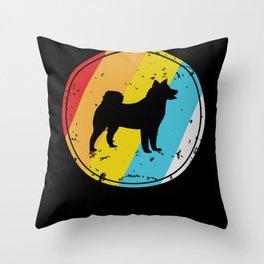 Siberian Husky Gift for Husky Dog Owner Throw Pillow
