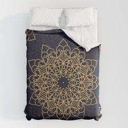 Blue&Gold Texture Mandala Comforters
