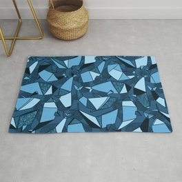 Origami whales Rug