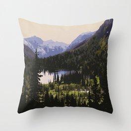 Waterton Lakes National Park Throw Pillow