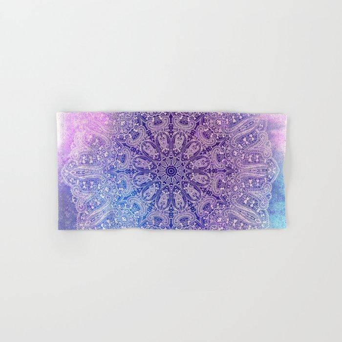 big paisley mandala in light purple Hand & Bath Towel