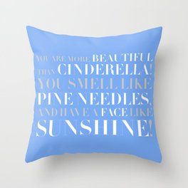 Bridesmaids Wedding Pine Needles Sunshine Throw Pillow