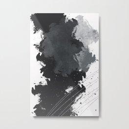 Abstract Painting No. 4 | silver Metal Print