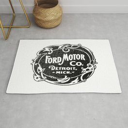 Old car company logo Rug