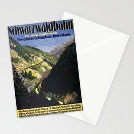 Badische Schwarzwaldbahn Vintage Travel Poster Stationery Cards