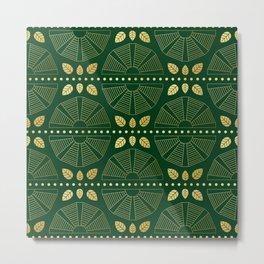 Emerald Art Deco Fan Metal Print