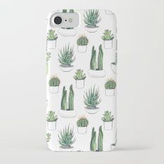 watercolour cacti and succulent iPhone 8 Slim Case