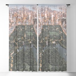 Central Park New York Sheer Curtain