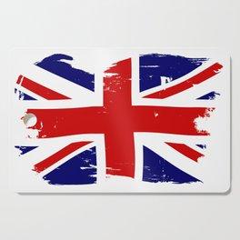 Union Jack British Flag With Grunge Cutting Board