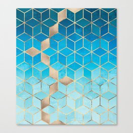 Sea And Sky Cubes (Custom Request) Canvas Print