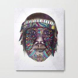 Amazon Tribal Indian Metal Print