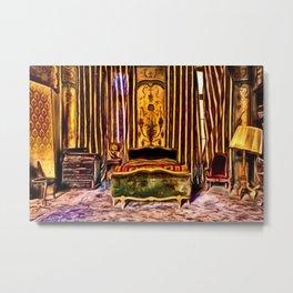 'Before We Were Shadows' Abandoned Lovers Bedroom Portrait Metal Print
