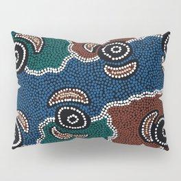 Authentic Aboriginal Art - Riverside Dreaming Pillow Sham