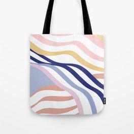 Abstract Summer Waves Tote Bag