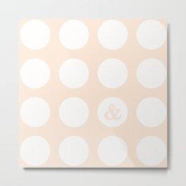 ampersand dot Metal Print