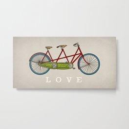 Bicycle Tandem Bike Love Metal Print