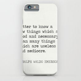 RALPH WALDO EMERSON QUOTES 9 iPhone Case