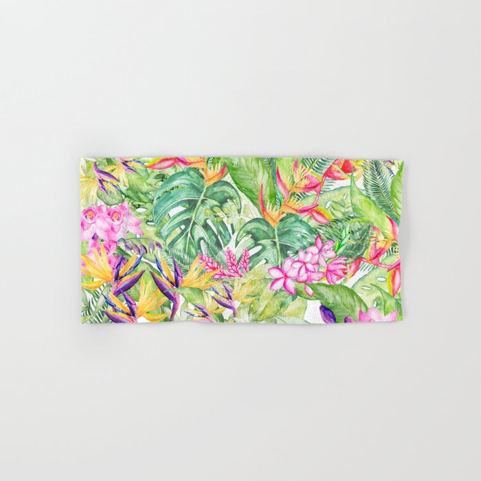 Tropical Garden 1A #society6 Hand & Bath Towel