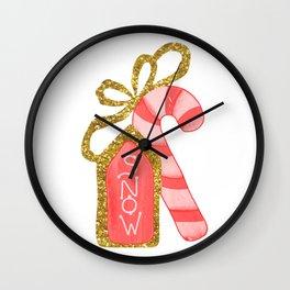 Bastón de caramelo Wall Clock