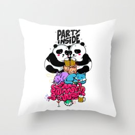 Party Inside Throw Pillow