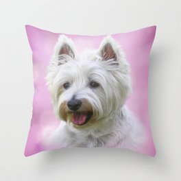 Adorable Australian Terrier Puppy Portrait Throw Pillow