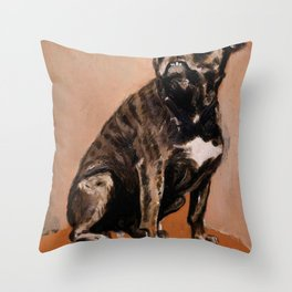 "Henri de Toulouse-Lautrec ""Touc Seated on a Table"" Throw Pillow"