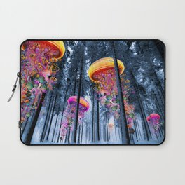 Winter Forest of Electric Jellyfish Worlds Laptop Sleeve
