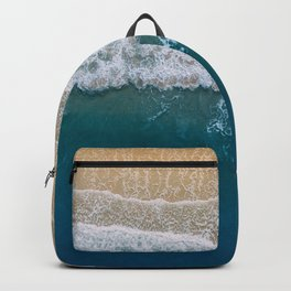 Water on the Beach (Color) Backpack