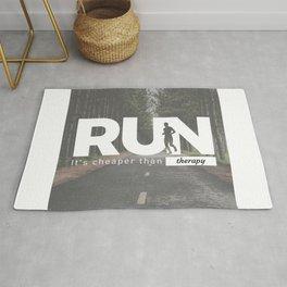 Run Cheaper Than Therapy Running Runners Treatment Rug