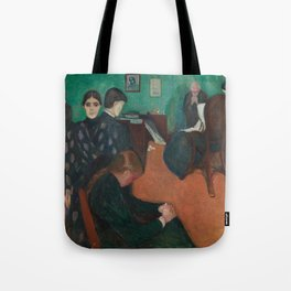 Death in the Sickroom by Edvard Munch Tote Bag