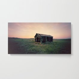 Abandoned Homestead at Sunset Metal Print