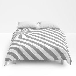 Stripes explosion - Grey Comforters