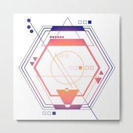 Galaxy abstract planet pink purple Metal Print