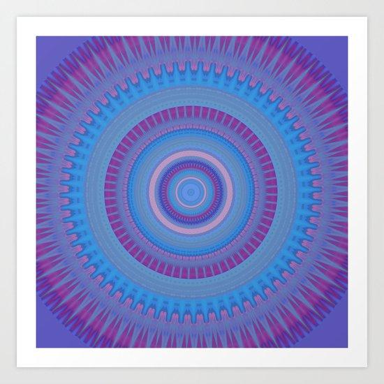 Electric Purple Blue Mandala by artaddiction45
