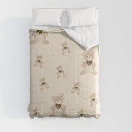 Teddy Bears - Beige Comforters