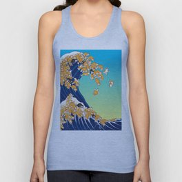 Shiba Inu in Great Wave Unisex Tank Top