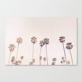 Sunny Cali Palm Trees Canvas Print
