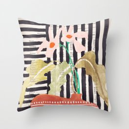 still life  with a vase in modern style, Gouache painting no.13 Throw Pillow