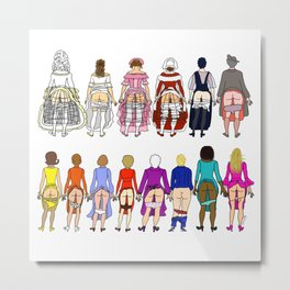 First Lady Butts Metal Print
