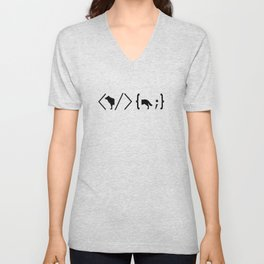 Full Stack Wolf - Front End / Back End Developer Dog Unisex V-Neck