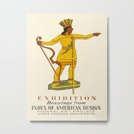 Native American Design Metal Print