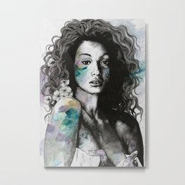 Start With a Strong and Persistent Desire | sexy black woman portrait Metal Print