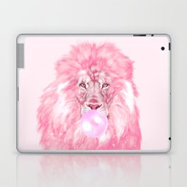 Lion Chewing Bubble Gum in Pink Laptop & iPad Skin