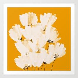 Flowers In Tangerine Art Print