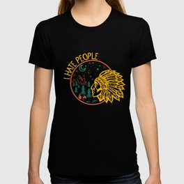 I hate people Indian chief T-shirt
