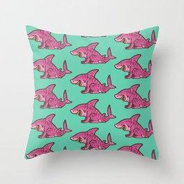 Cheshire Shark Throw Pillow