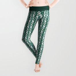 Watercolor Green Tile 1 Leggings