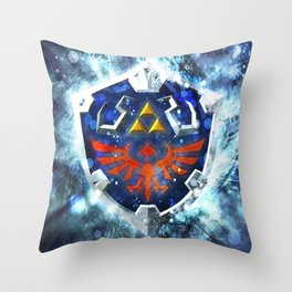 Tri forces shield Throw Pillow